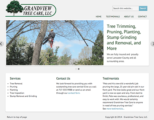 WordPress Site for GrandView Tree Care image
