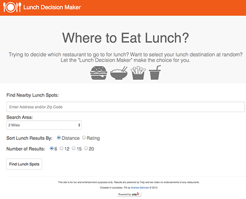 Lunch Decision Maker image