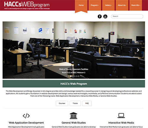 Website for HACC's Web Program image