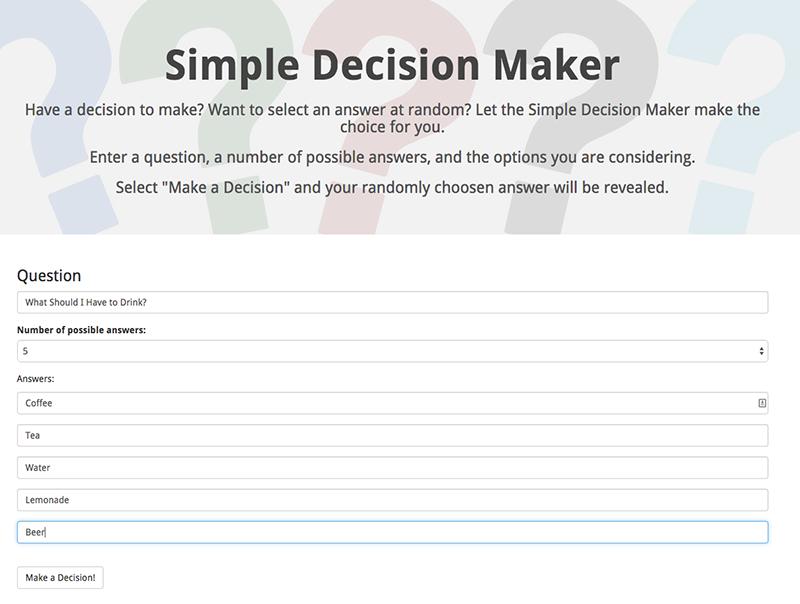 Simple Decision Maker image